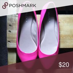 Aldo brand hot pink pointed flats. , condition is new! ALDO Shoes Flats & Loafers