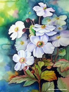 Watercolor Negative Painting, Silk Painting, Watercolor Paintings, Flower Sketches, Happy Art, Art Graphique, Botanical Art, Pixel Art, Life Is Good