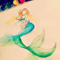Just a random mermaid I drew.  I have a love for mermaids lol