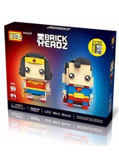 LOZ Mini Blocks Superman Wonder Woman Mini Heroes Series