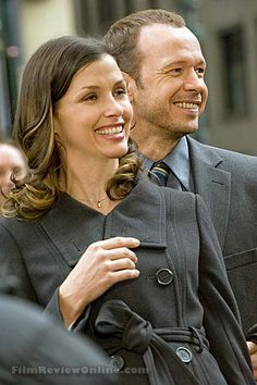 Bridget Moynahan plays ADA Reagan and Donnie Wahlberg plays Det. Danny Reagan in CBS Blue Bloods