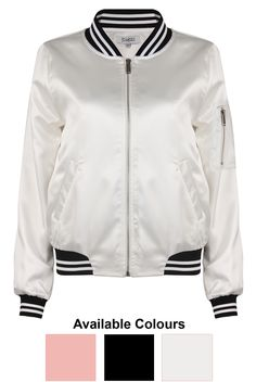 Stripe Collar Bomber Jackets - Buy Fashion Wholesale in The UK