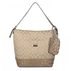 Coach Legacy Duffle In Stud Signature Medium Khaki Shoulder Bags BDE Give You The Best feeling!