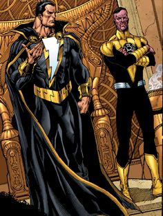 Black Adam and Sinestro