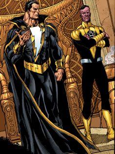 Black Adam and Sinestro