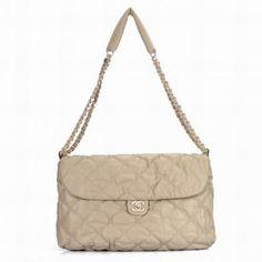 Chanel 2.55 Bag A35614 Apricot Leather Chain & Shoulder Strap