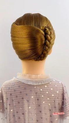 Hairdo For Long Hair, Bun Hairstyles For Long Hair, Pretty Hairstyles, Braided Hairstyles, Cuts For Long Hair, Hair Up Styles, Medium Hair Styles, Hair Videos, Hair Designs