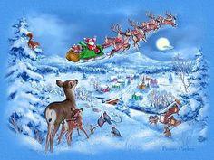 zima vánoce obrázky