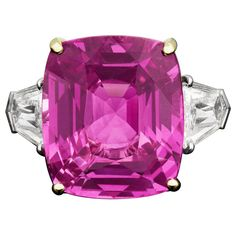 This 27.42 carat Ceylon Intense Pink Sapphire is mindblowingly beautiful.  As it should be for $1250000.