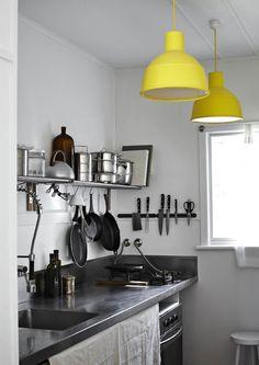 Kitchen Colour Pop - Bubblegum pink sprayed shades against greys/beige background... Think so.
