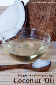 How to consume coconut oil and answered readers' comments via #hybridrastamama