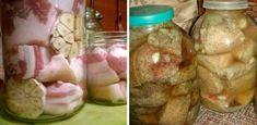 slanina-la-borcan (1) Pickles, Cucumber, Mason Jars, Pork, Fine Dining, Mason Jar, Pickle, Zucchini, Pickling