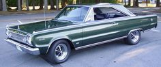 This 1966 426 Hemi Satellite is of 43 Hemi Auto Satellite hardtops known to exist at the Lynch Road, Mi plant. This car is fully restored # matching with correct H code 1966 Hemi block and date coded engine. Plymouth Scamp, Plymouth Gtx, Plymouth Muscle Cars, Dodge Muscle Cars, Classic Trucks, Classic Cars, Chrysler Hemi, Plymouth Satellite, Plymouth Belvedere
