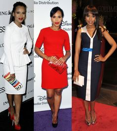 All three rock my socks off. Love peplum all white and pop of red. Love bold red with basic black heels and the b/w too!