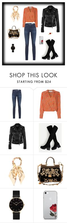 """Jacket and black"" by jesica-d-psc on Polyvore featuring AG Adriano Goldschmied, Diane Von Furstenberg, Versus, Hermès, Dolce&Gabbana and CLUSE"