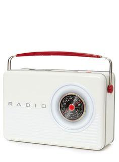Retro Radio Biscuit Tin - Food Hall  - Christmas