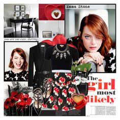 """Emma Stone: The Girl Most Likely"" by beautifully-eclectic ❤ liked on Polyvore featuring Dolce&Gabbana, Chanel, OPI, Stila, Nancy Gonzalez, Yves Saint Laurent, Michael Kors, Simone Rocha, Erickson Beamon and Valentino"