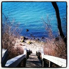 Steps to the Beach from Horton's Lighthouse - North Fork Long Island NY
