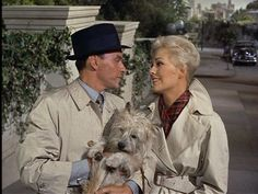 Frank Sinatra and Kim Novak with Cairn Terrier.