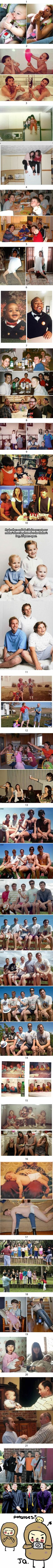 21 'Then & now' images prove that some people never change