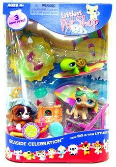 Littlest Pet Shop Figures Playset Summer Seaside Celebration