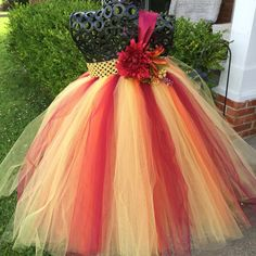 Autumn Sunrise  Fall Flower Girl Tutu Dress/ Shabby Chic Wedding/ Rustic Wedding/ Country Wedding/ Fall weddings/ fall theme weddings