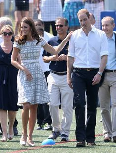 Pin for Later: Kate Middleton's Maternity Style Moments Just Keep Getting Better Kate Middleton Style Her gray and white checkered Hobbs dress made for a sweet outing.