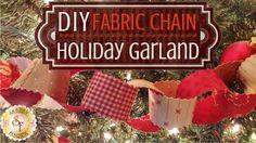 DIY Fabric Chain- Holiday Garland | Shabby Fabrics