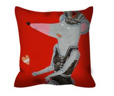 Pillow with zipper mouse policewoman di LiuLab su Etsy