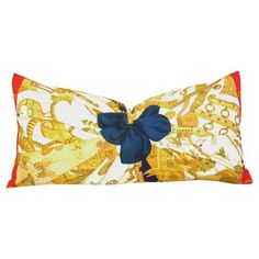 """Check out this item at One Kings Lane! Hermès """"Caty Latham"""" Silk Pillow"""