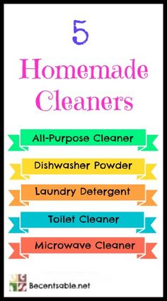Cleaning Jewelry 5 Homemade Cleaners (Easy and Cheap) - Try these 5 easy Homemade Cleaners! We have recipes for Laundry Detergent, Dishwasher Powder, All-Purpose, Toilet cleaner and Microwave Cleaner. Homemade Cleaning Supplies, Cleaning Recipes, Cleaning Hacks, Diy Cleaners, Cleaners Homemade, House Cleaners, Household Cleaners, Powder Laundry Detergent, Clean Dishwasher