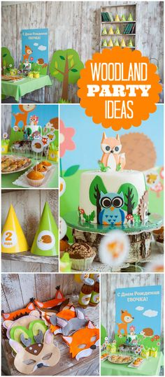 What a cute and fun woodland girl birthday party! See more party ideas at CatchMyParty.com!