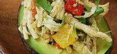 Paleo Herb Chicken Salad in Avocado Cups
