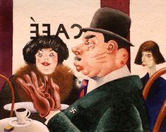 Georg Scholz, Café, Hakenkreuzritter  Café, Swastika Knight (1921)