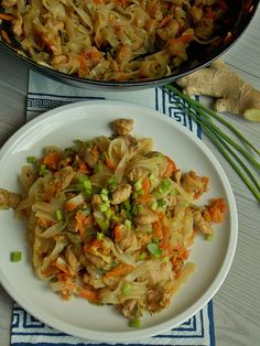 Diet Recipes, Cooking Recipes, Healthy Recipes, Chow Mein, Polish Recipes, Wok, Cabbage, Food Porn, Food And Drink