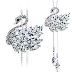 Beautiful Swan Crystal Necklace - Ashley Jewels - 1