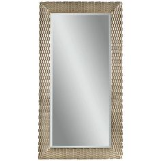 "Bassett Mirror Thoroughly Modern Sazerac Leaner Mirror. Details: - Thoroughly Modern Collection - Silver Leaf finish Dimensions: - Overall: 43"" x 80"" h - Box Dimensions: 84"" w x 4"" d x 47"" h - Weight:"
