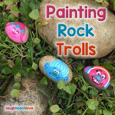 Painting rock trolls painted river rocks, painted rocks kids, p Rock Painting Patterns, Rock Painting Ideas Easy, Painting For Kids, Pebble Painting, Pebble Art, Stone Painting, Painting Art, Painted River Rocks, Painted Rocks Kids
