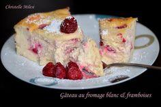 Gâteau au fromage blanc et framboises
