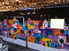 What a cool idea for inside a sukkah and a great project to do with the kids in the weeks leading up to Sukkot! #Sukkah