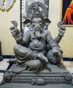 Shri Ganesh Images, Ganesh Chaturthi Images, Ganesha Pictures, Durga Puja Wallpaper, Ganesh Wallpaper, Ganesha Drawing, Lord Ganesha Paintings, Clay Ganesha, Ganesha Art