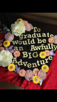 Peter Pan themed graduation cap! Floral! Class of 2015