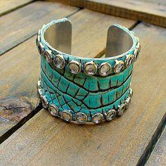 Crocodile Tears Western Cowgirl Shabby Chic Leather & by JAYB99, $25.00