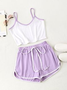 Co-Ords, Women's Suits, Two Piece Outfits & Matching Sets Girls Fashion Clothes, Teen Fashion Outfits, Outfits For Teens, Cute Lazy Outfits, Trendy Outfits, Cute Pajama Sets, Cute Pjs, Cute Pajamas, Cute Sleepwear