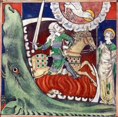 rider on a pale horse  Queen Mary Apocalypse, London 1300-1325