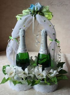 Gallery.ru / Декор Шампанского в виде сердца - Свадебно-сердечный 2012 - Ryazanochka-II