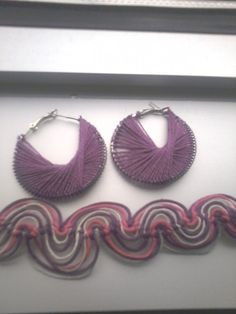 25% off sale use code 25thanku  Peruvian thread earrings with swirl macrame by SibrinaCreations, $5.50