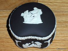Black Wedgewood Jasperware Trinket Box