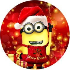 "Christmas Minion 2.25"" Round Button"