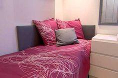 Pink white modern kids' room girls' room